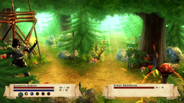 Time your attacks to win in Skilltree Saga, a casual RPG