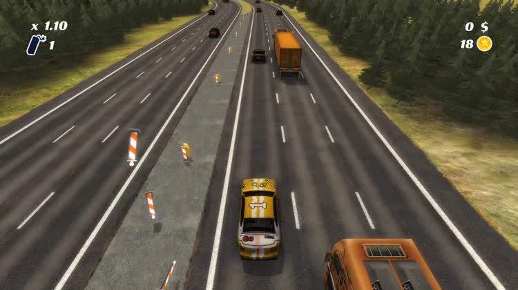 Crash Into Traffic