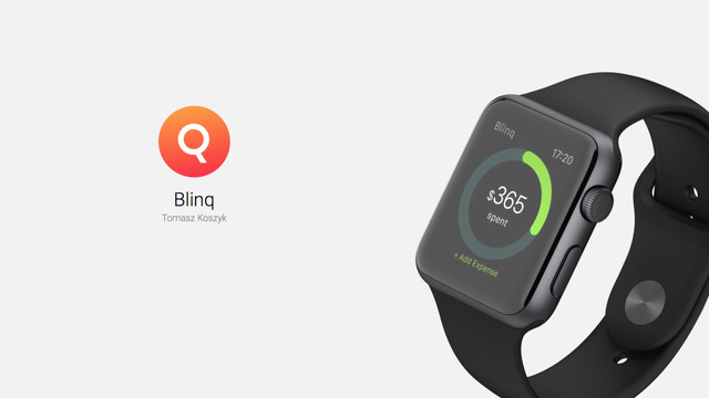 Track Expenses on the Apple Watch With Blinq