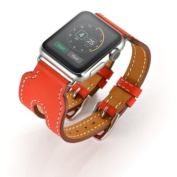 The Best Non-Apple Red The Best Replica Hermès Double Buckle Cuff Apple Watch Band