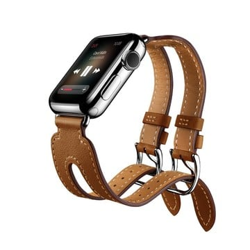 The Best Non-Apple Brown Hermès Double Buckle Cuff Apple Watch Band