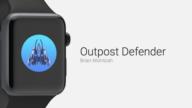 Outpost Defender is an Arcade Style Game for Apple Watch